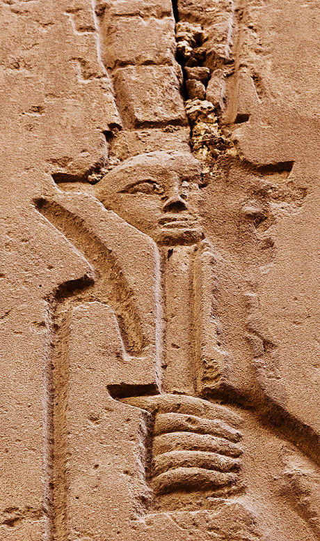Karnak Hand with Face Fragment