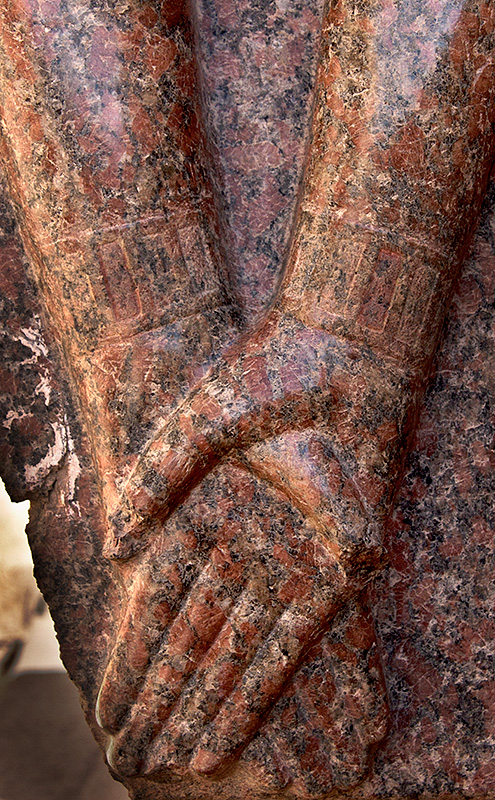 Edfu Crossing Hands Detail from Sculpture